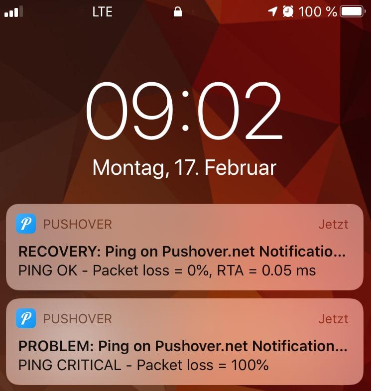 Pushover-Benachrichtigung in openITCOCKPIT