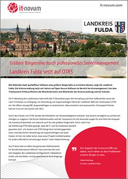 Landkreis Fulda setzt auf OTRS